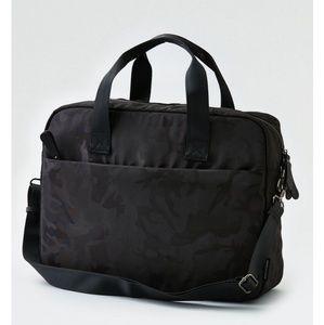 American Eagle black camo messenger bag